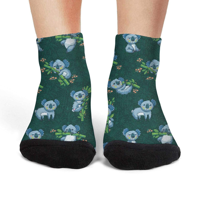 Women's koala bear lovey compression cool socks aesthetic running crew socks
