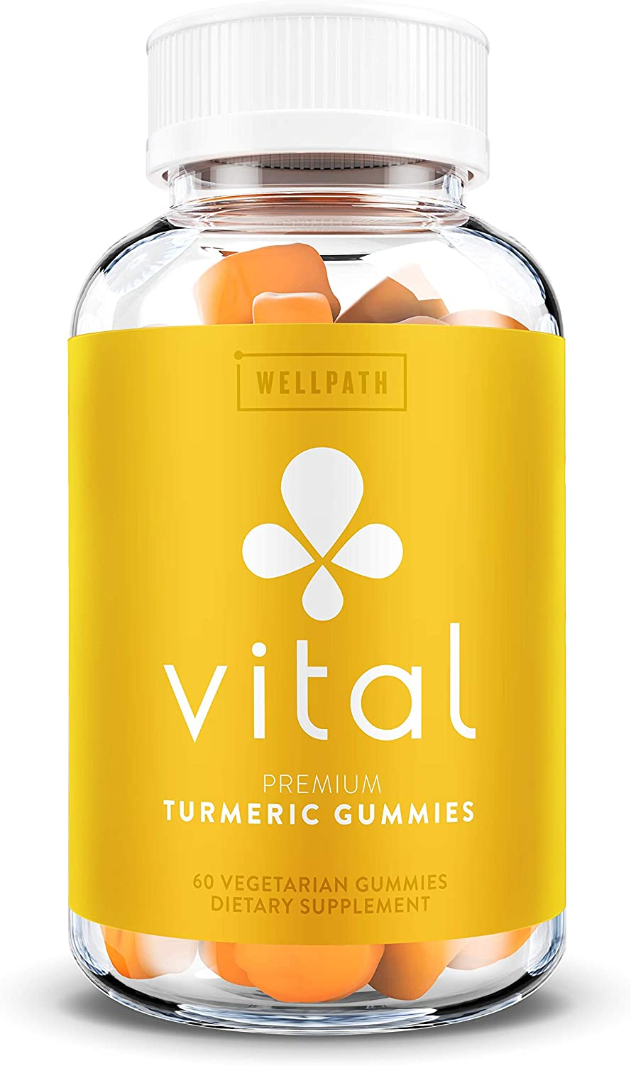 Vital Turmeric Gummies - Turmeric Curcumin Supplement with Ginger - Tasty Gummy Alternative to Turmeric Capsules - Anti-Inflammatory - Supports Joint Pain Relief