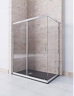 CONJUNTO MAMPARA DE DUCHA TeliaQ4 + PLATO DUCHA Orson- Resina - Pizarra - Blanco Ral:9003 (80x160): Amazon.es: Bricolaje y herramientas
