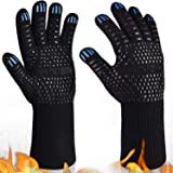 Yuxier Oven Gloves BBQ Grill Gloves 1472°F Extreme Heat Resistant Oven Mitts for Cooking, Grilling, Kitchen, Smoker…