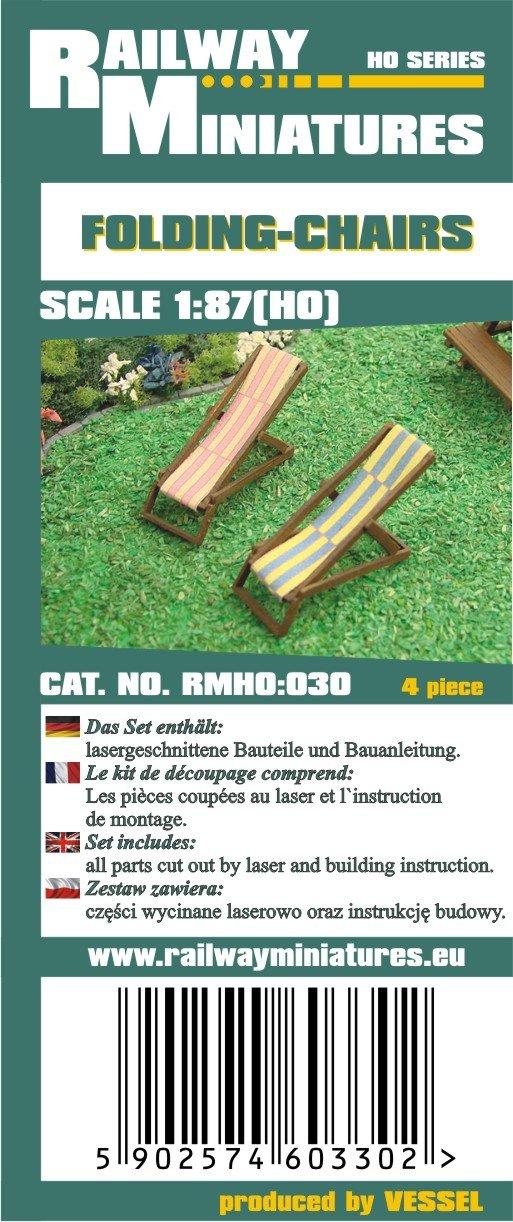 Railway RMH0:030 Miniatures Diorama - Silla Plegable (2,2 x ...