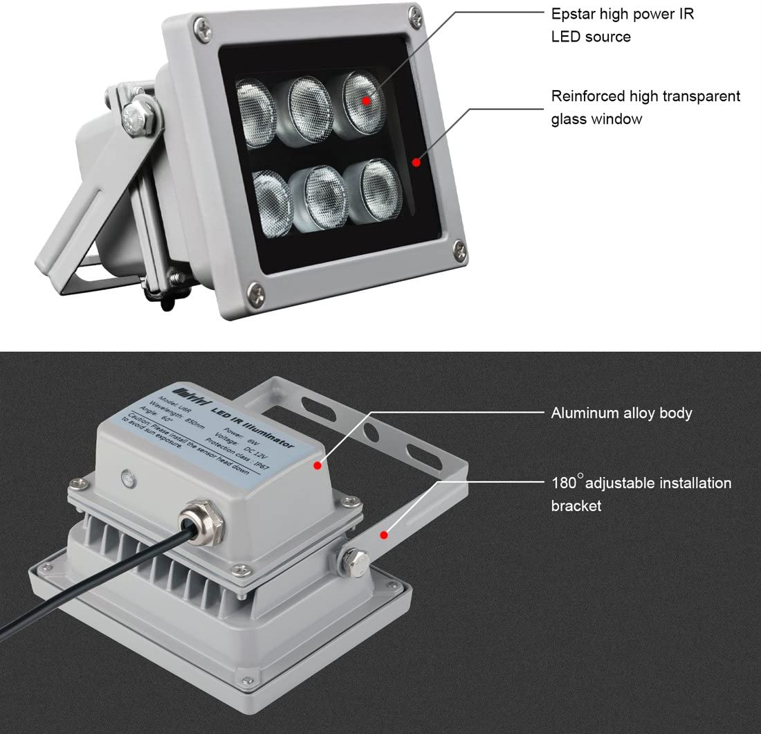 48LED IR Infrared Illuminator 60 Degree Bulb Board For CCTV Security Camera FEH