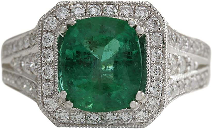 1.23 Ct Green Color Emerald Emerald Gemstone VS1 Clarity 8.00 MM GN22