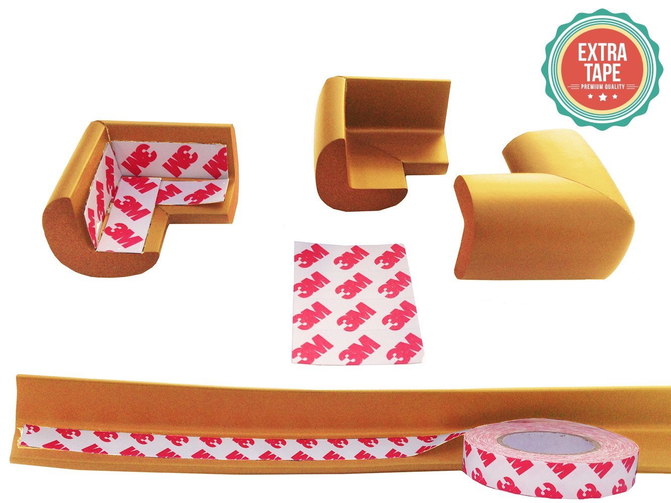 Extra Tape More Dense Corner Cushion Bumper to Absorb Impact Edge Guard /& Corner Bumpers for Baby Proofing From Bow-Tiger- Easy to Install Extra Long Edge Protector Protect Your Loved Ones Today!