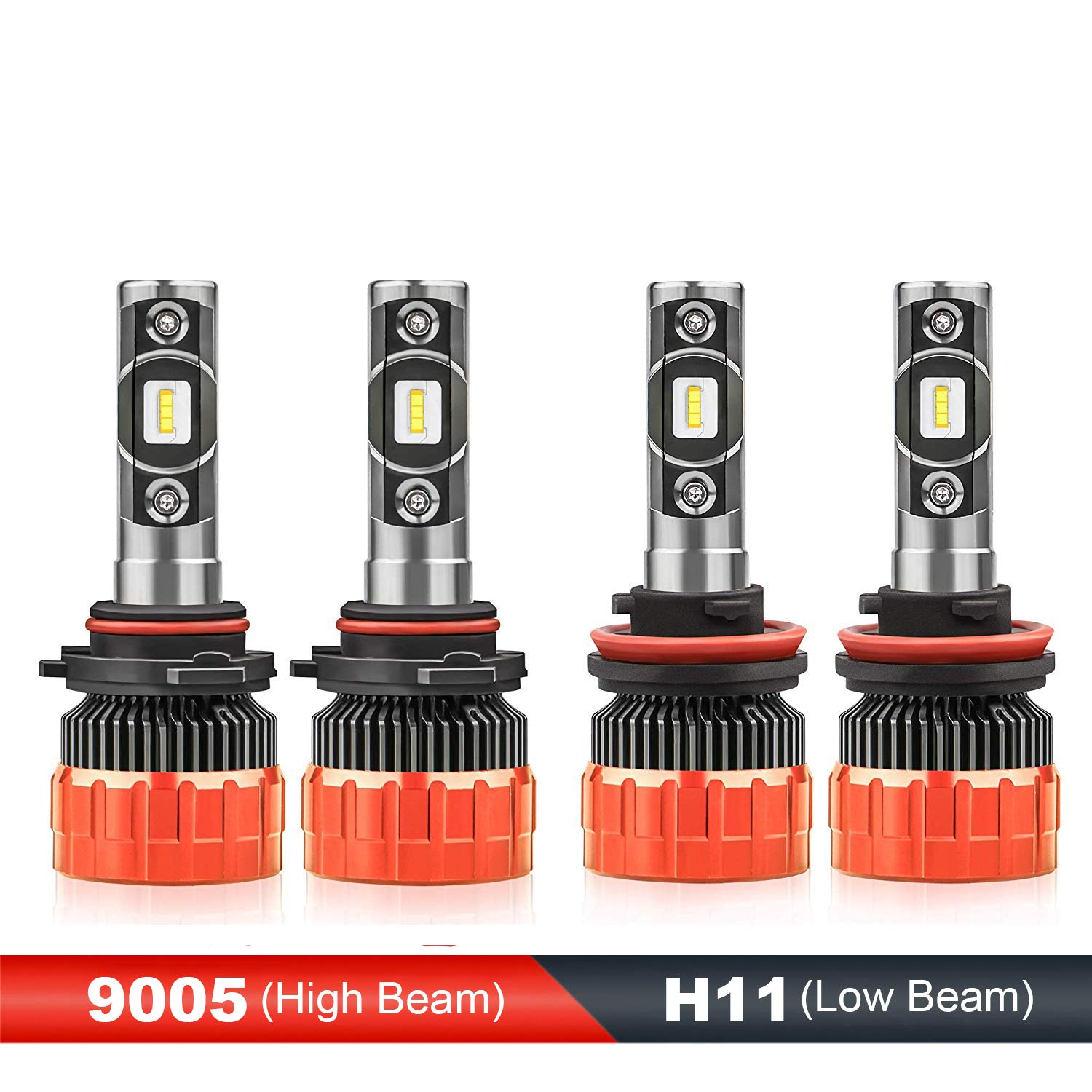MOSTPLUS 8000 Lumens 80W/Pair-9005+H11 All-in-One LED-TX1860 Chip Really Focused Headlight Bulbs Super Mini Conversion Kit Xenon White