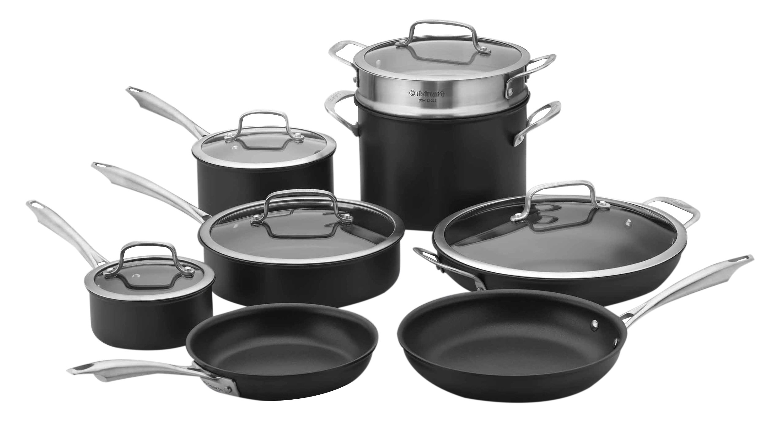 Cuisinart Dishwasher Safe Hard-Anodized 13-Piece Cookware Set, Stainless Steel by Cuisinart