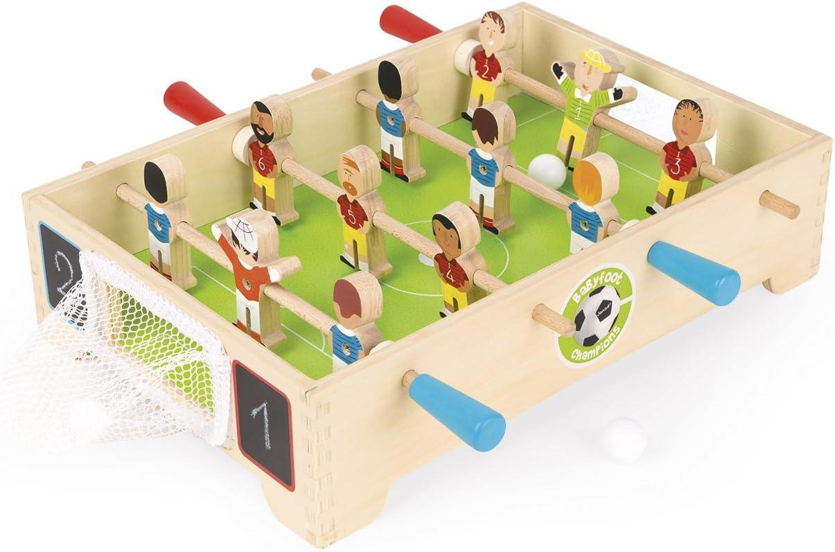 Janod Mini Baby-Foot Champions (j02070), Multicolor (Juratoys