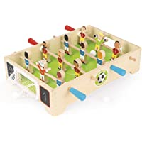 Janod - Champions Mini Wooden Table Football - for Children from The Age of 3, J02070, Multicolored