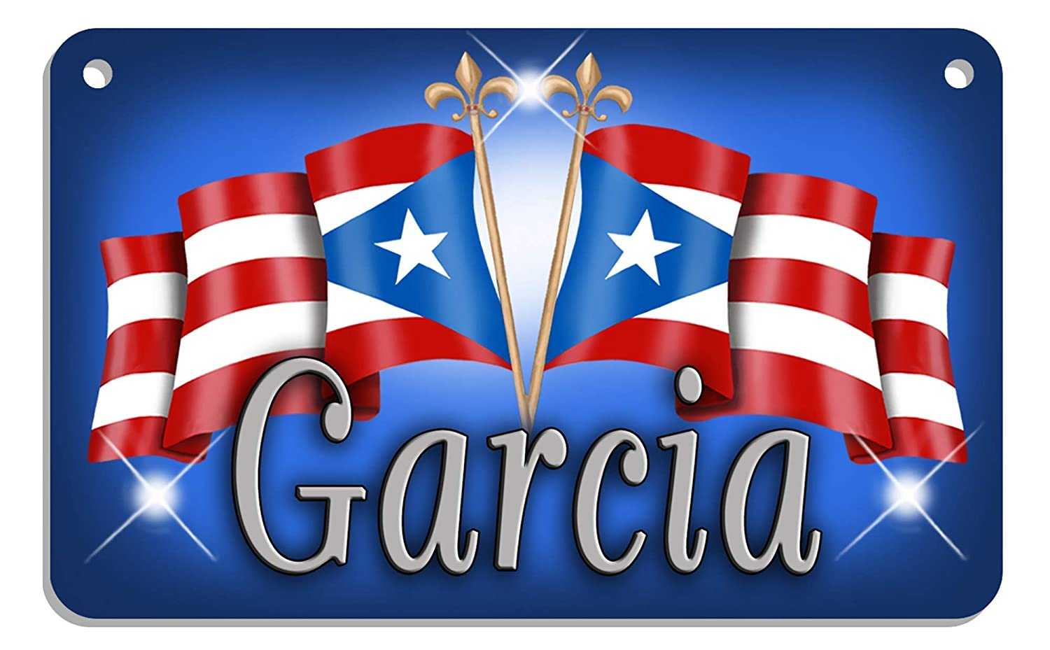 Puerto Rico Flags Bicycle Metal License Plate Personalize Gifts 2.75 in x 4.5 in