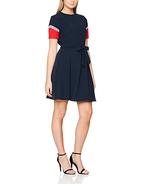 Tommy Hilfiger New Jillian Dress SS, Vestido para Mujer, Azul (Midnight),
