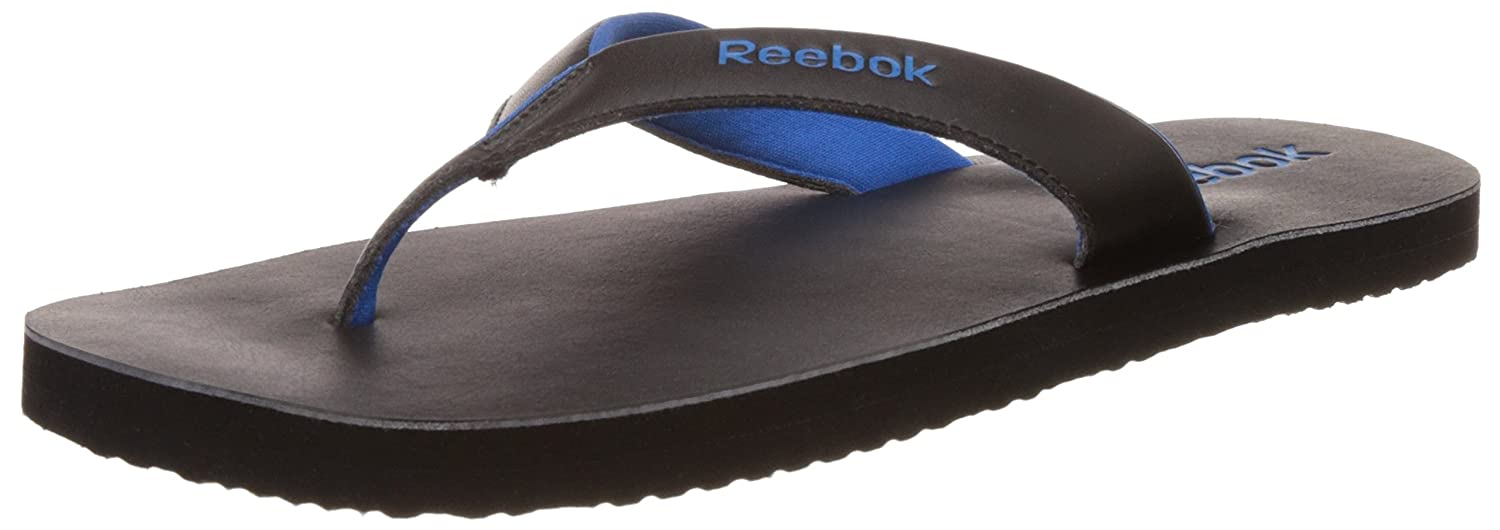 cba9d0bab025e9 Reebok Men s Advent II Black and Blue Sport Flip-Flops and House Slippers -  6 UK India (39 EU) (7 US)  Buy Online at Low Prices in India - Amazon.in