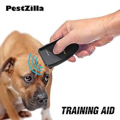 PestZilla8482; Dog Repellent and Trainer + LED Flashlight/Handheld Ultrasonic Dog Deterrent and Bark Stopper + Dog Trainer Device