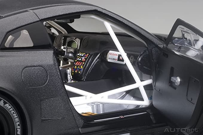Nissan Skyline r35 GT-R nismo gt3 oscuro mate gris 81583 1//18 Autoart modelo aut