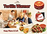 """Wellhouse Tortilla Warmer 11.5"""" Microwavable Fabric Pouch Insulated Cloth Food Warmer to Keep Warm and Soft up to 1 Hour"""