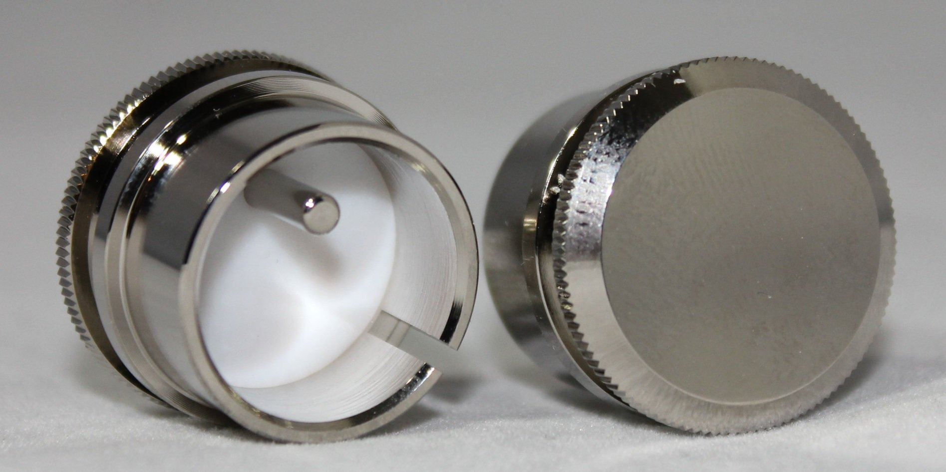 XLR male Noise Reducing Caps - PTFE (Teflon) Insulation - Nickel Plated - Pack of 2