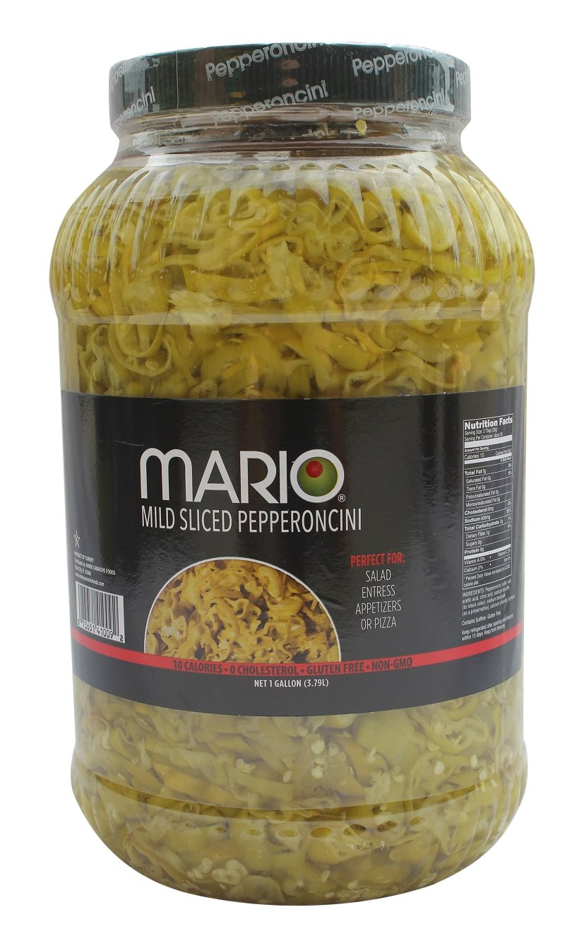 Mario Camacho Foods Sliced Pepperoncini in PET, 1 Gallon