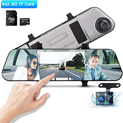 Amazon.com: AIMTOM 5 Inch IPS Display Touch Screen Dash Cam ...