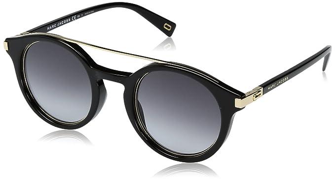 Marc Jacobs Marc173s Round Sunglasses BLACK GOLD DARK GRAY GRADIENT 48 mm 168aa65f7b5d