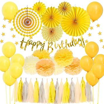 Amazon.com: Juego de decoración de fiesta de cumpleaños ...
