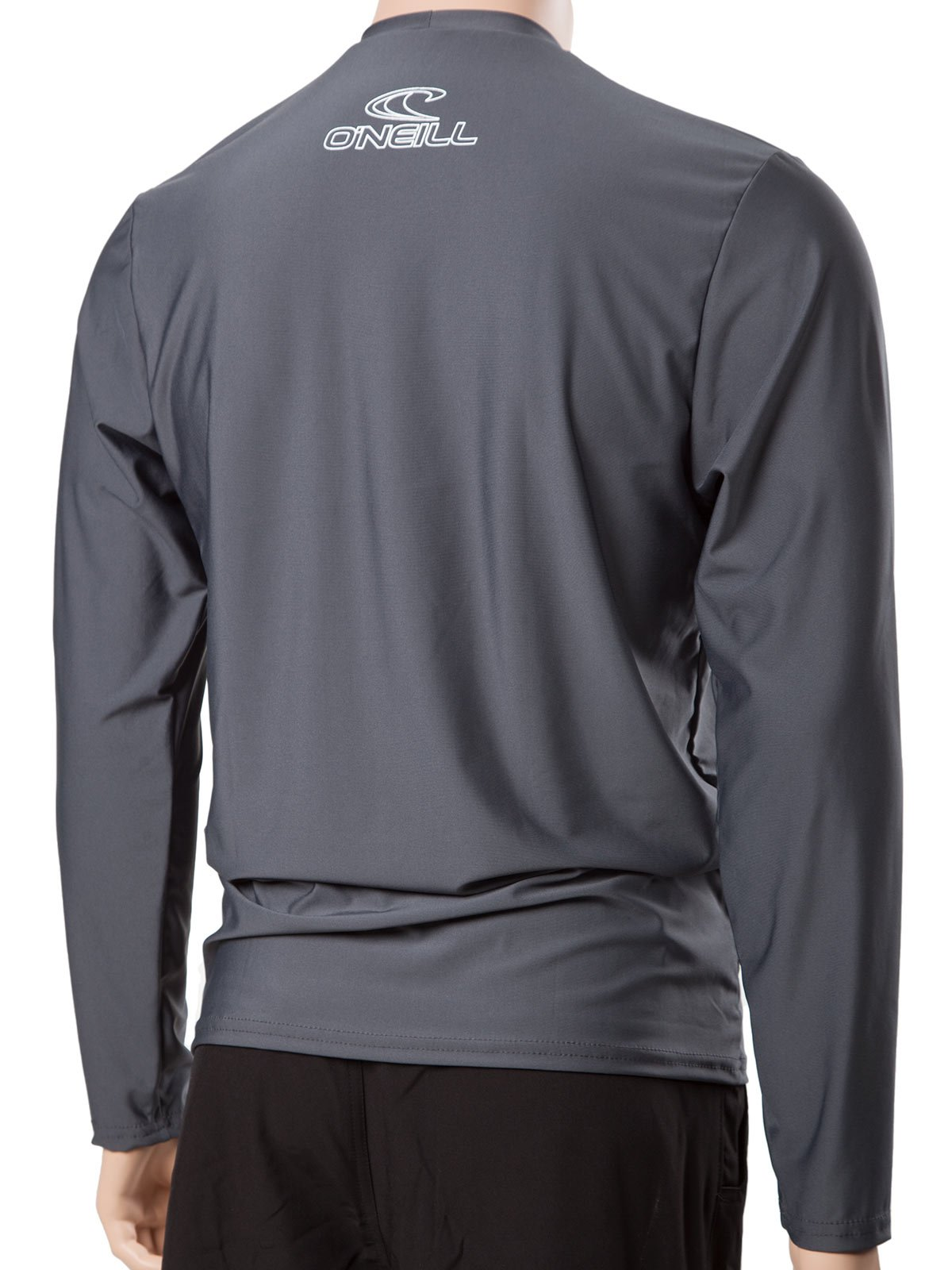 O'Neill Men's Basic Skins Longsleeve Rash Tee M Graphite (4339IS) by O'Neill Wetsuits (Image #4)