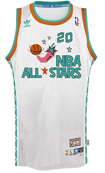 hot sale online 10a57 19388 adidas Gary Payton NBA Throwback 1995 All-Star West Swingman Jersey - White