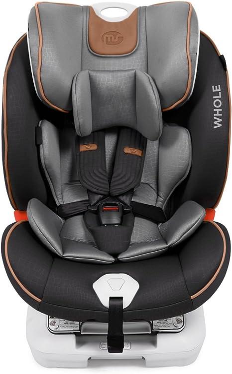 Innovaciones MS, Silla de coche grupo 0+/1/2/3 Isofix, negro/gris ...