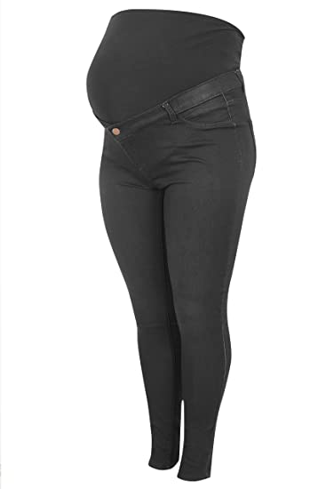 02c439cf48b Yours Women s Plus Size Bump It Up Maternity Super Stretch Skinny Jeggings  with Comfor Size 16