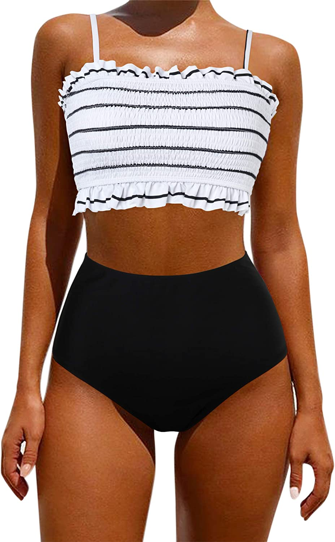 OMKAGI Women's Bandeau Bikini Sets Cute