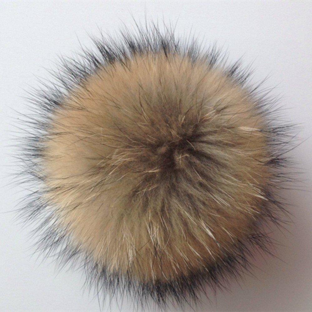 Vrai Grand Renard fourrure artificielle Pompon Porte-cl/és Boule Fluffy Pendentif Charme Sac Voiture Porte-cl/és