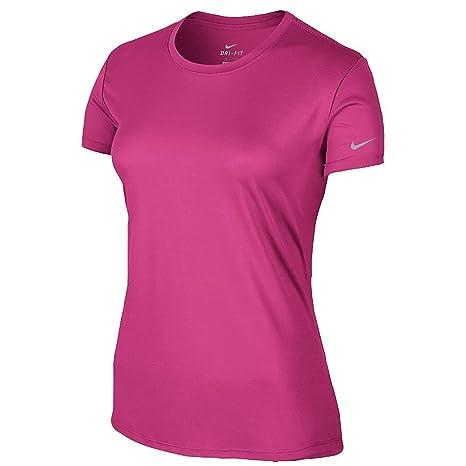 Nike Women's Vivid Pink Reflective Silver Short Sleeve Dri