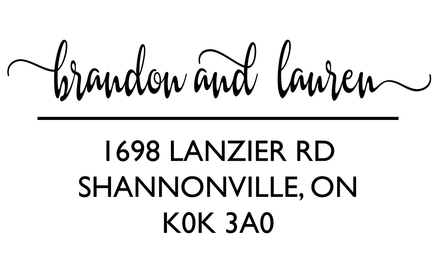 Self inking address stamp, custom address stamp, personalized return address stamp - 7B