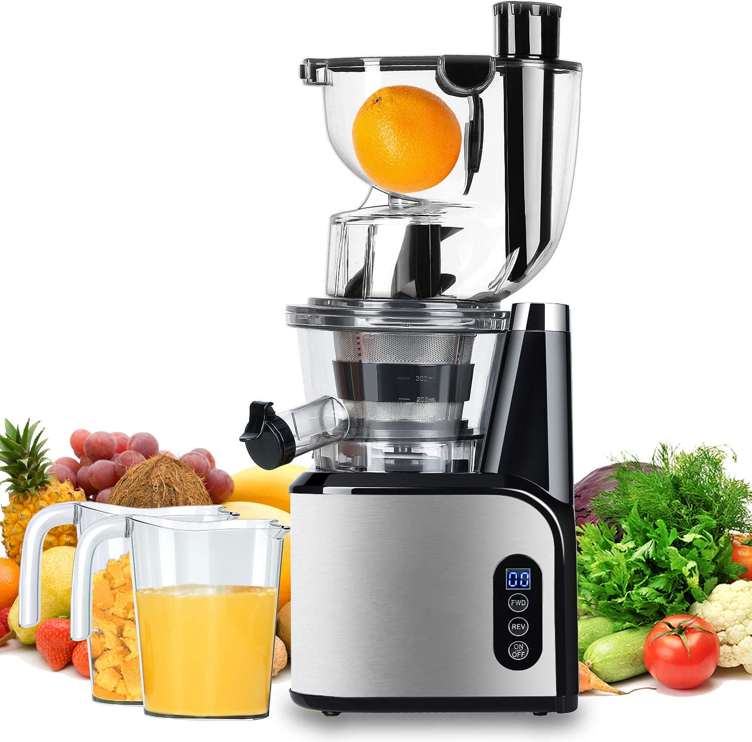 Aobosi Slow Masticating Juicer 83mm(3.15inch) Wide Chute