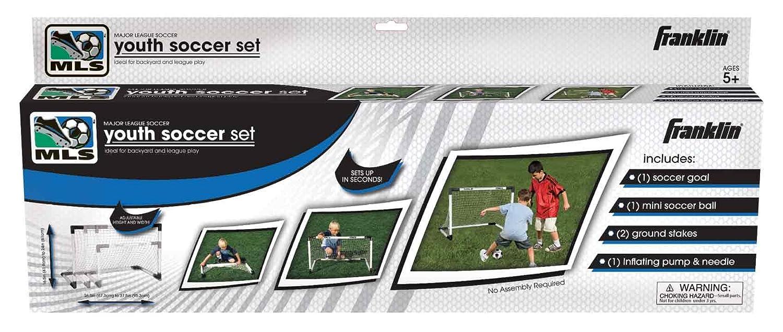 amazon com franklin sports mls insta set soccer goal and ball
