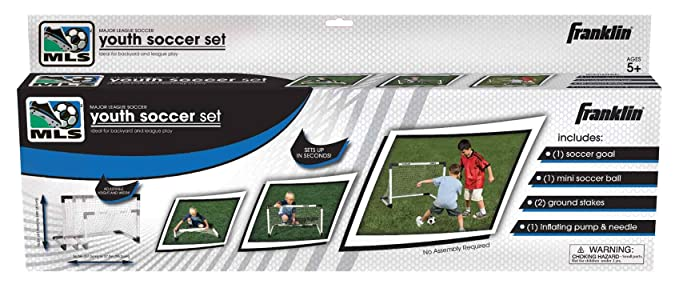794603895 Amazon.com : Franklin Sports MLS Insta-Set Soccer Goal and Ball Set : Soccer  Nets For Kids : Sports & Outdoors