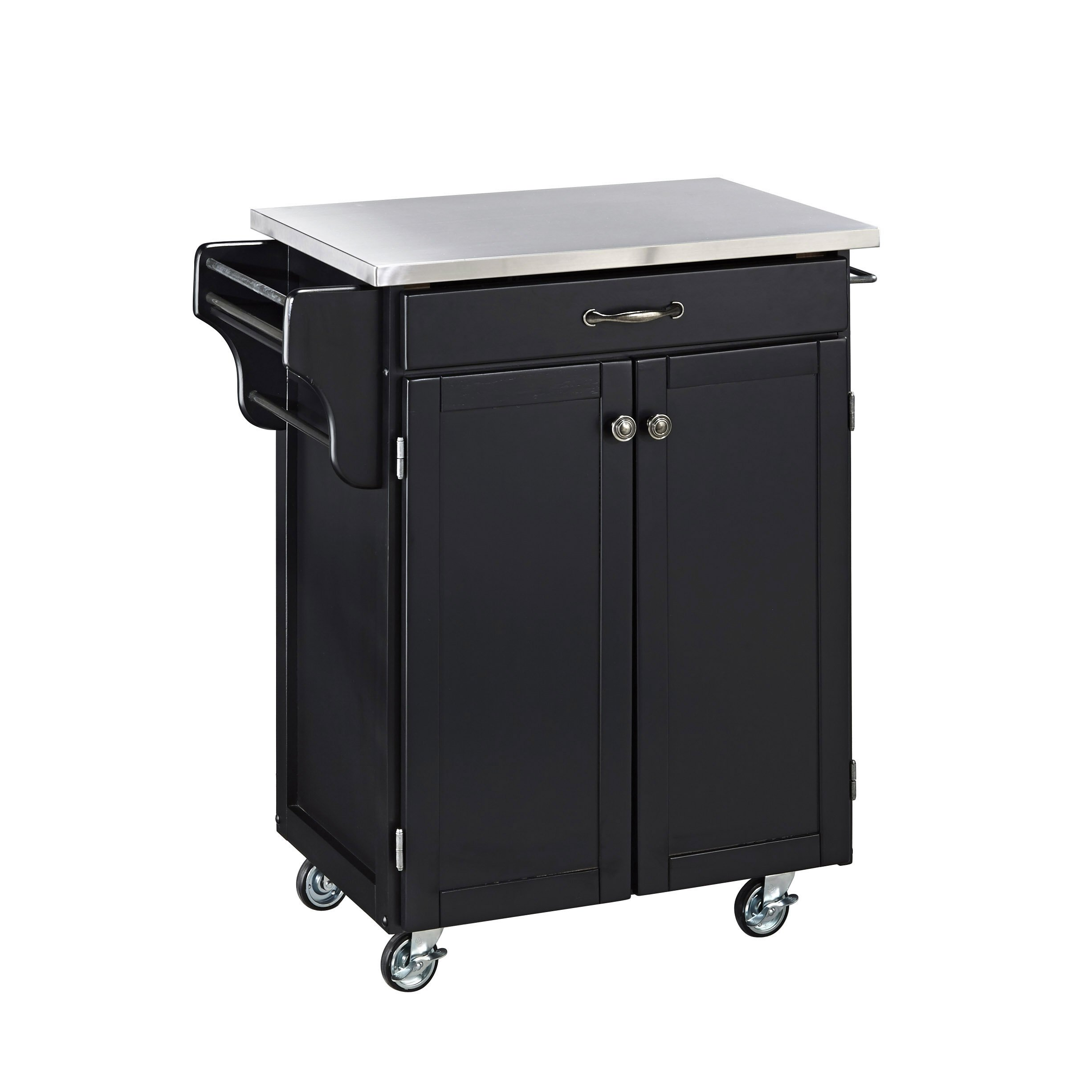 Create-a-Cart Black 2 Door Kitchen Cart with Stainless Steel Top by Home Styles by Home Styles (Image #2)