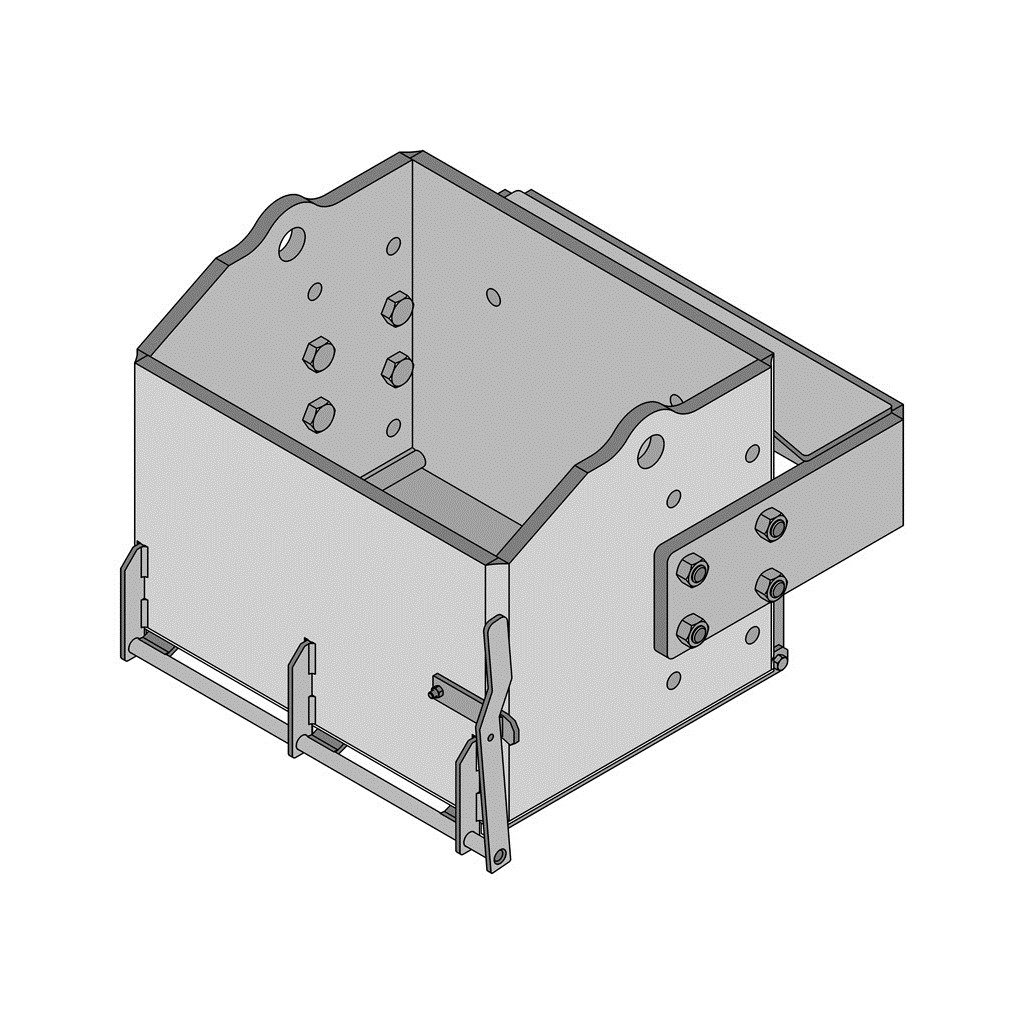 K&M Manufacturing 2474 Case IH MX Bolt on Brackets, 28'' Heavy Duty