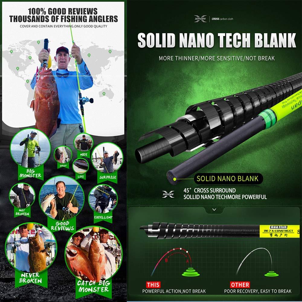 GOOFISH Solid Nano Blank Slow Pitch Jigging Rod Light Shore Jigging Rod Slow Action Pitch Rod Pe 2-4 1.98m 6 6