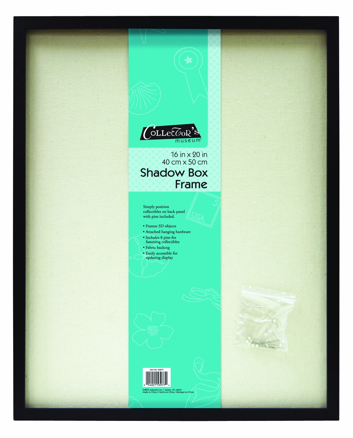 MCS 16x20 Inch Linen Lined Shadow Box, Black (53977) MCS Industries Inc.