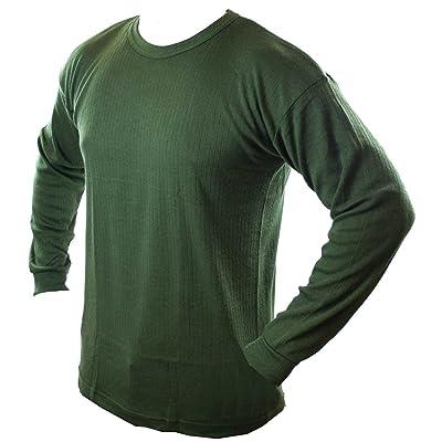 Highlander Men's Thermal Vest Long Sleeve Olive