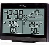 Technoline WS 9252 Wetterstation mit Vorhersage der Wetterlage, sowie Innen und Außentemperatur, schwarz, 12,1 x 4,7 x 10 cm