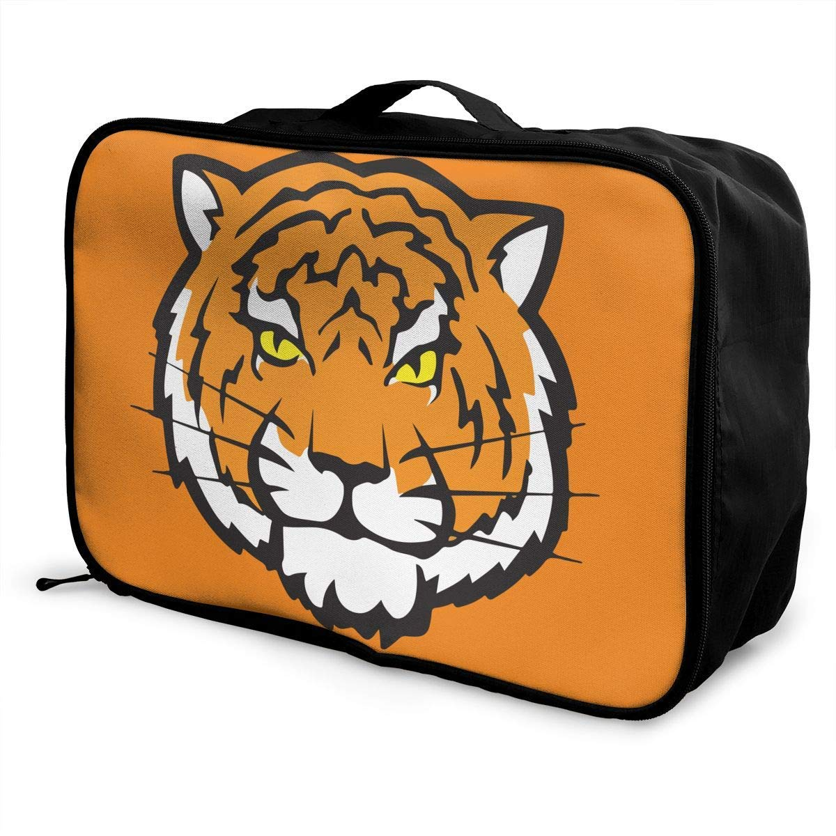 Portable Luggage Duffel Bag Tiger Travel Bags Carry-on In Trolley Handle