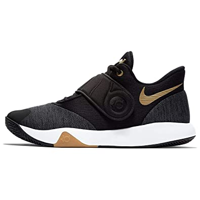 ad9eb188574c Nike Men s KD Trey 5 VI Black Metallic Gold-White Basketball Shoes (AA7067