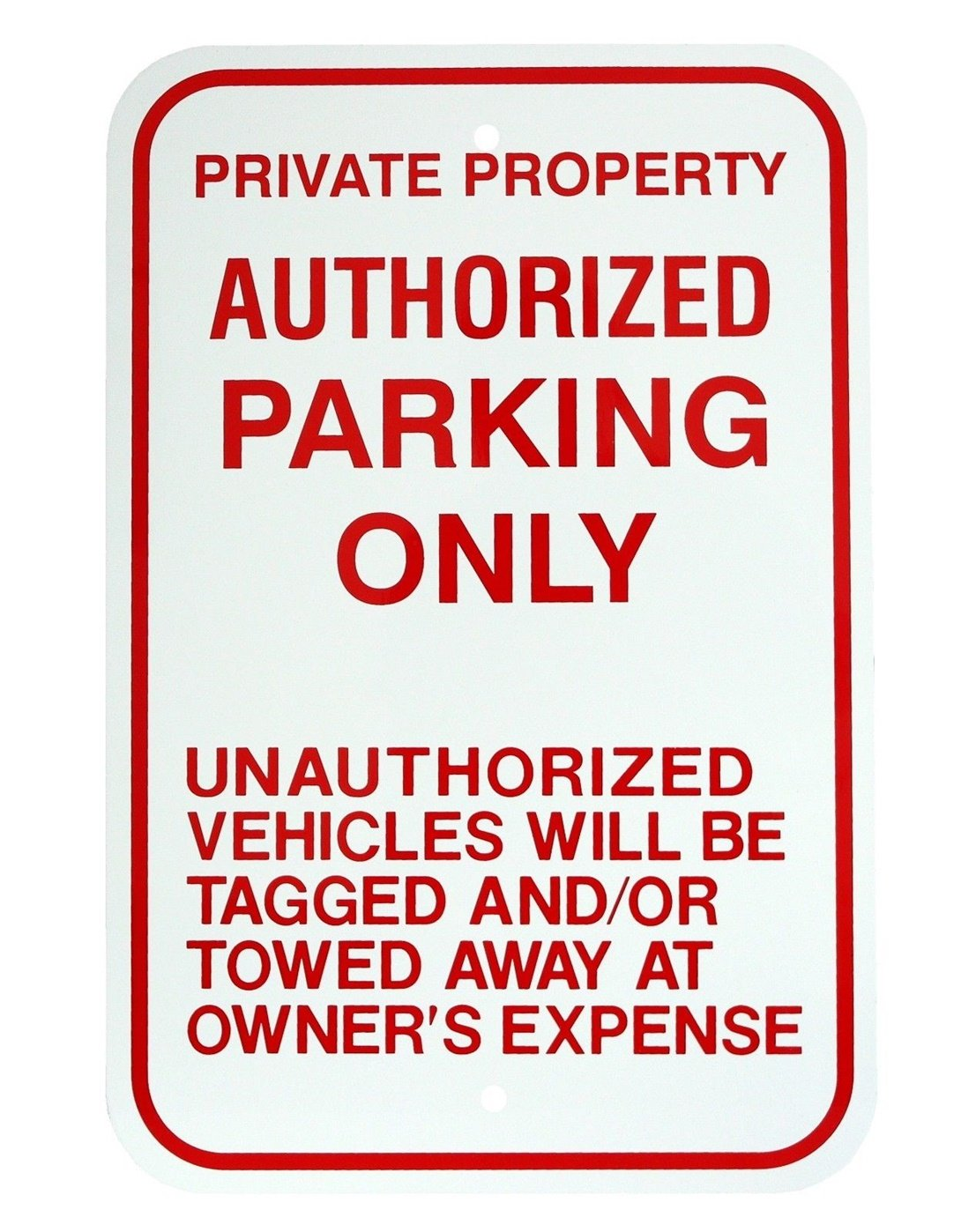 1-Pc Wonderful Popular Authorized Parking Only Sign Exterior Message Declare Vehicles Property Size 12'' x 18'' Aluminum Signs by GVGs Shop