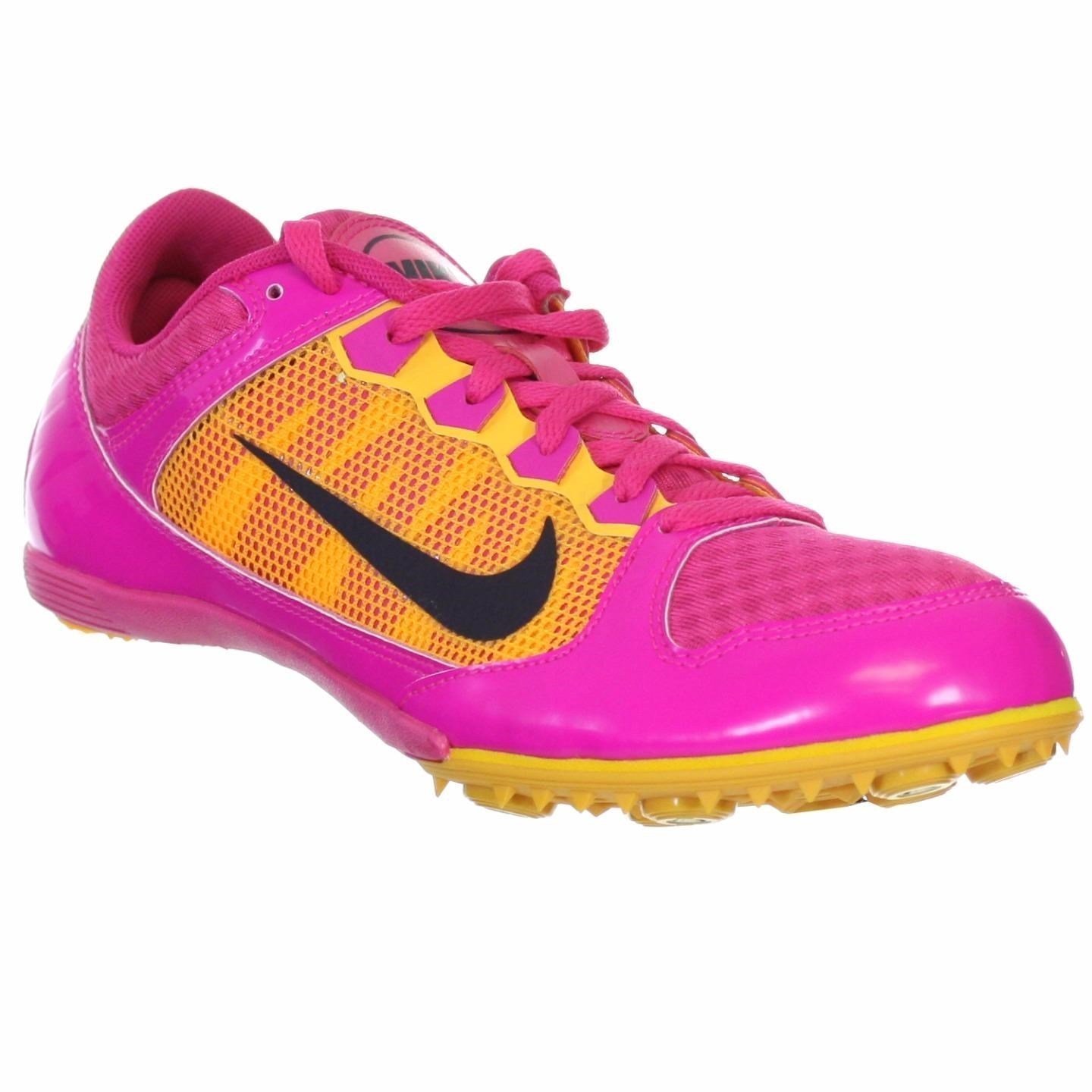 new product f35a8 c21a0 NIKE WOMENS ZOOM RIVAL MD7 RASPBERRY PINK FOIL SPIKED TRACK SHOE US 9 M