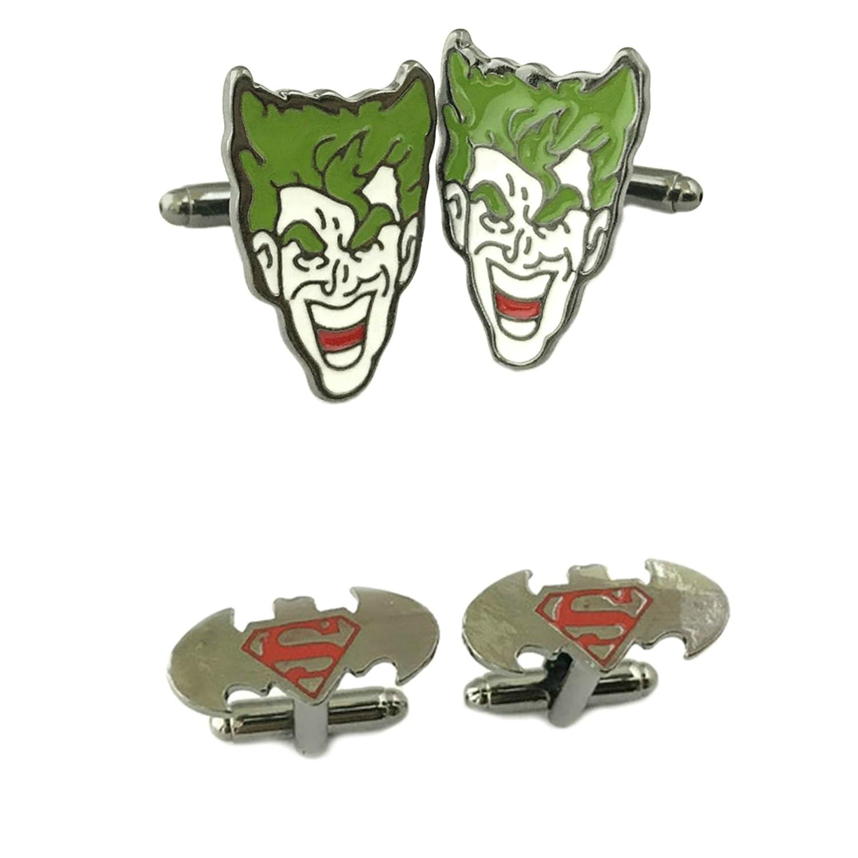 Outlander gear dc comics 2 pairs joker batman superman superhero 2018 movie logos wedding groom groomsmen mens boys cufflinks