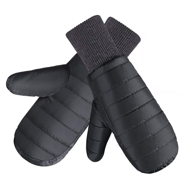 Fazitrip Handschuhe Herren Fäustlinge Skihandschuhe Schi Handschuhe Snowboard Winter Sporthandschuhe Fausthandschuhe mit 9010 Entendaunen