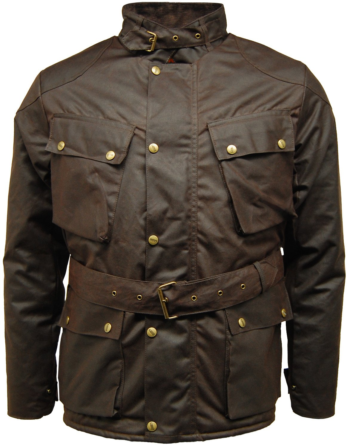 High Quality Mens Wax Speedway Quilted Biker Motorcycle Jacket Coat
