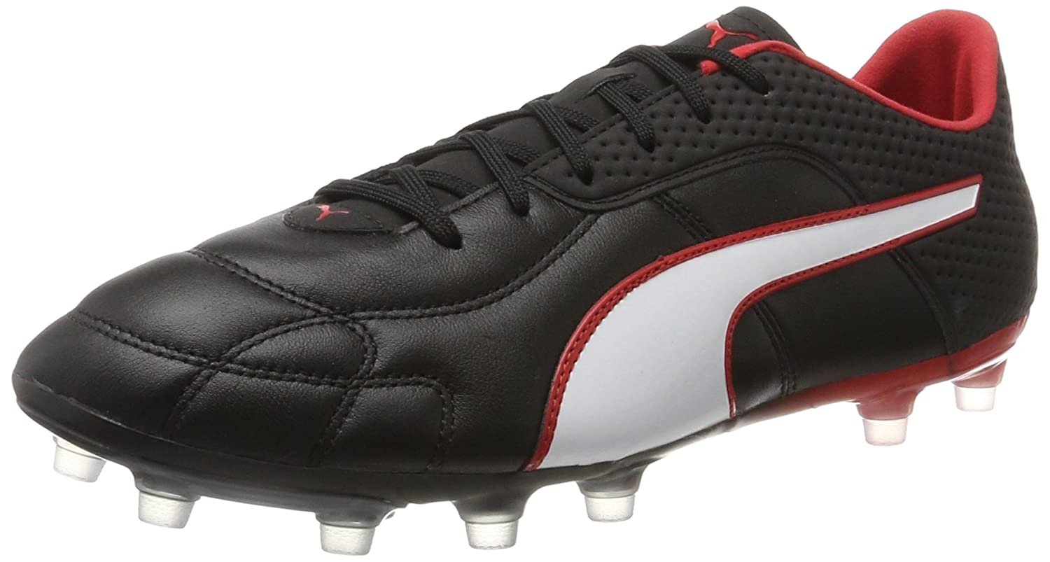 Puma Capitano FG, Zapatillas de Fútbol Unisex Adulto 45 EU|Negro (Puma Black White Red)