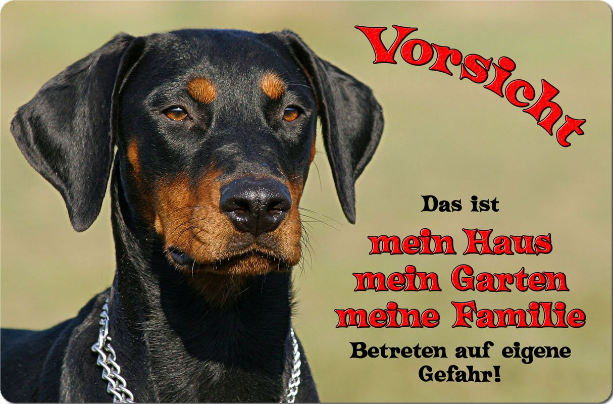 +++ DOBERMANN - Metall WARNSCHILD Schild Hundeschild Sign - DBM 21 T1 Nanyuk