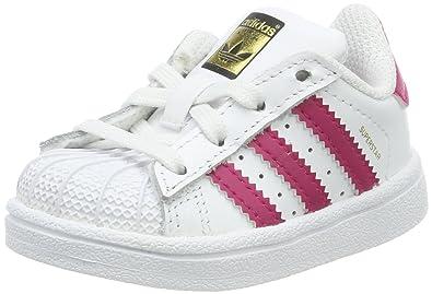 cbd347298fa adidas Boys  Superstar I Open Back Slippers